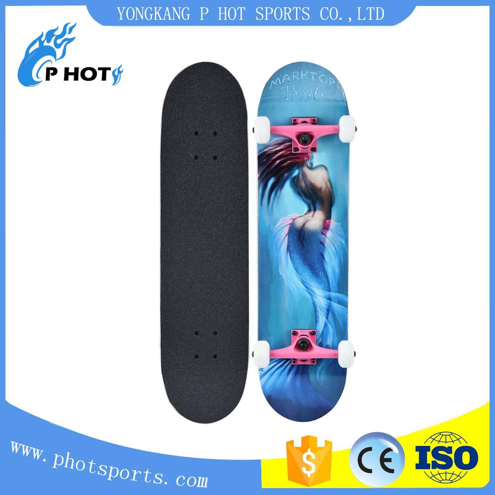 Free skatebaord 31 inch skateboard 7 layer Canadian Maple concave skate board skateboard deck oem