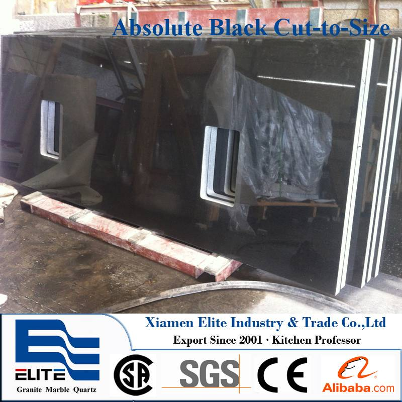 Absolute Black Granite Kitchen Top