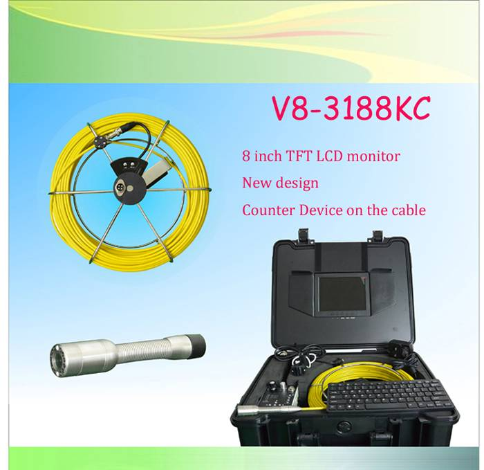 Drain Inspection Camera with New Counter for Drain Detection