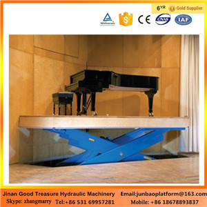 Rotating Scissor Stage Lift/Mobile Hydraulic Stage