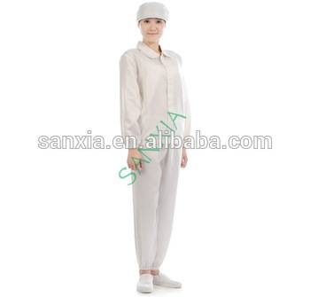 Anti - static work clothing for ultraviolet ray