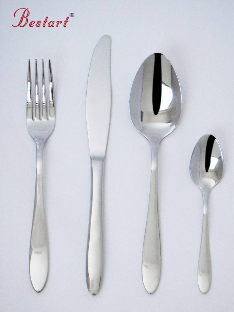 4pcs easy taking stainless steel camping cutlery set