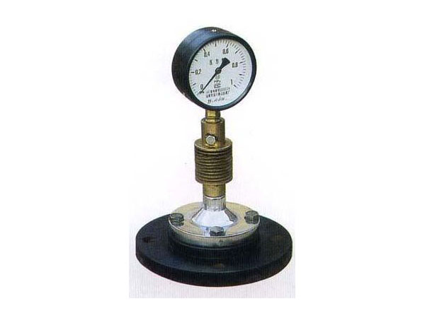 Glass-lined pressure indicator