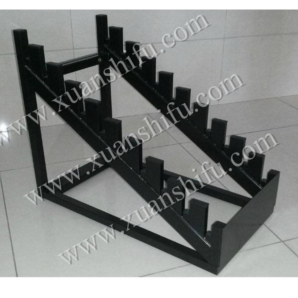 Ladder shape display shelf for tile laminate floor stone JY37