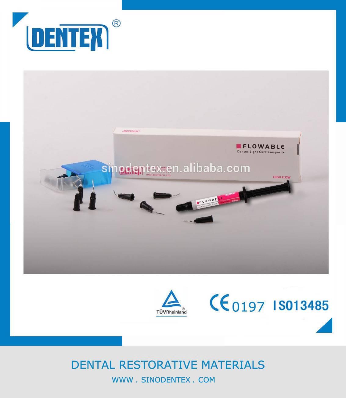 Dental Filling Materials Dentex Bulk Fill Flowable Restorative for Cavity Restoration