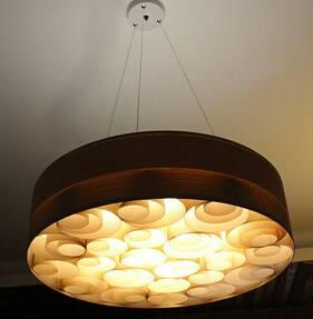 2015 designer wood veneer pendant lights P1036-60