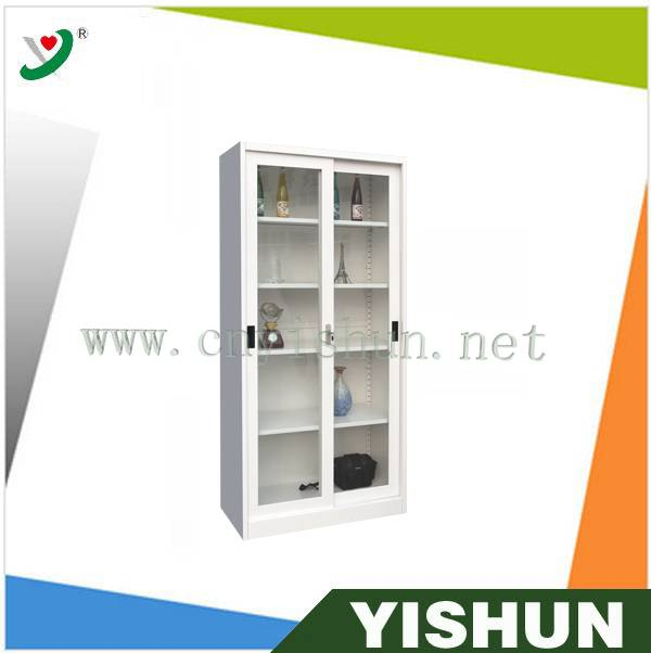 2014 lastest glass door sliding cabinet