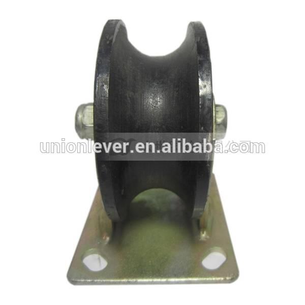 4 inch U type rigid track wheel