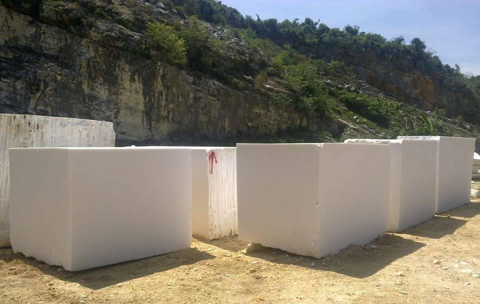 Pure White Marble Blocks from Nastoma Stone Vietnam