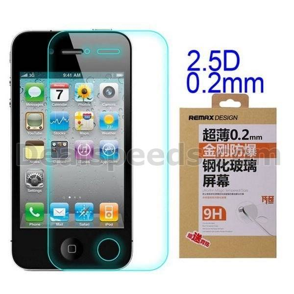 Remax Arc Edge Legend 0.2mm 2.5 D 9H Tempered Glass for iPhone 4S
