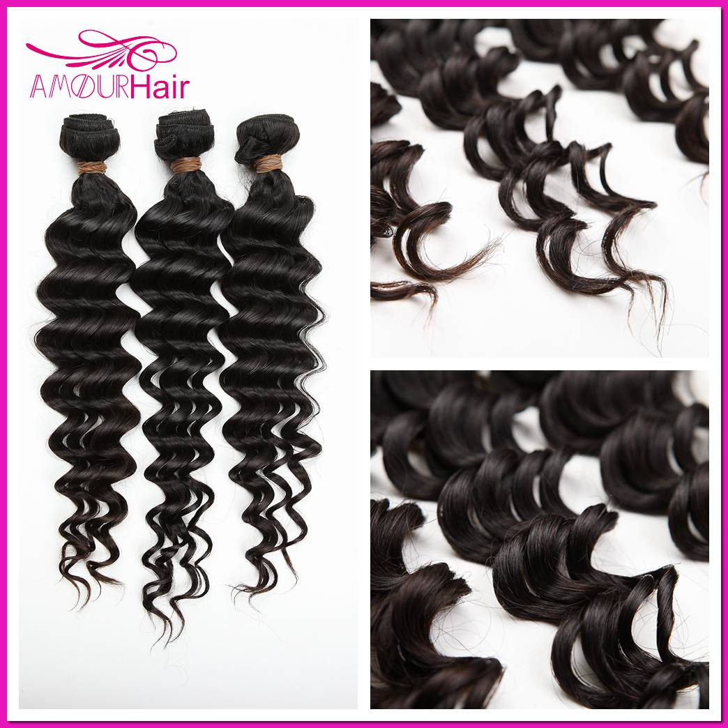 Brazilian Virgin Hair Weaving, Deep Wave, 8 inch-34 inch,100% human virgin Hair