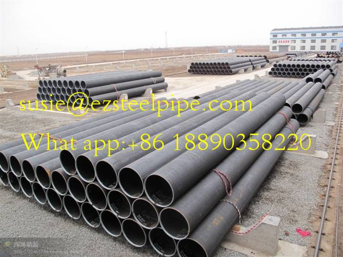 API 5L X52 DSAW LSAW ERW steel pipe for oil &gas constraction