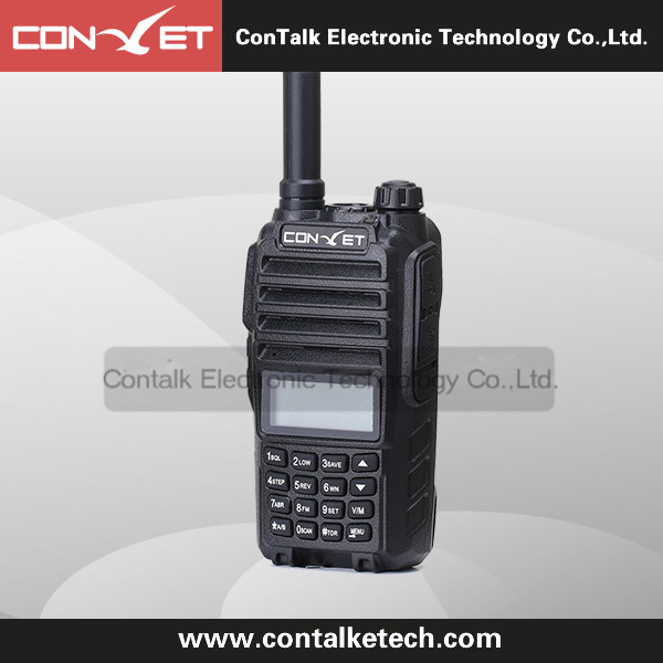 ContalkeTech Dual Band 2 Way Radio CTET-5806D UHF 400-470MHz and VHF 137-174MHz 128CH VOX DTMF