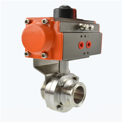 Stainless Steel Sanitary Pneumatic Butterfly Valve
