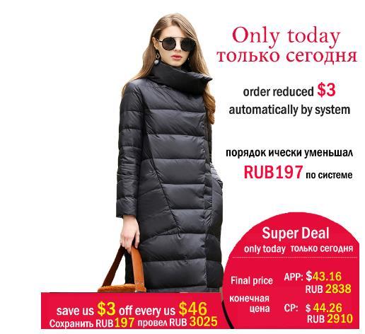 Duck down jacket for women winter 2019 women long overcoat coats Casual ultra-thin warm
