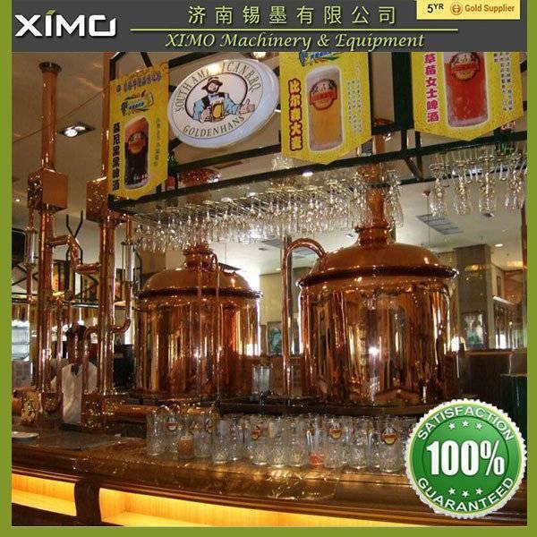 Brewpub/bar micro Red copper brewery equipment