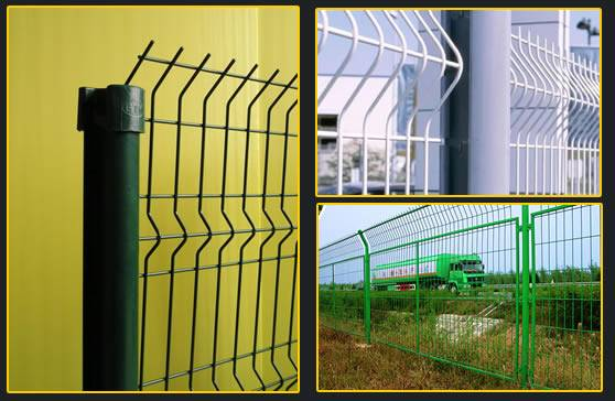 V-folds expanded metal wire mesh  fence
