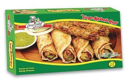 Frozen vegetable kabab roll