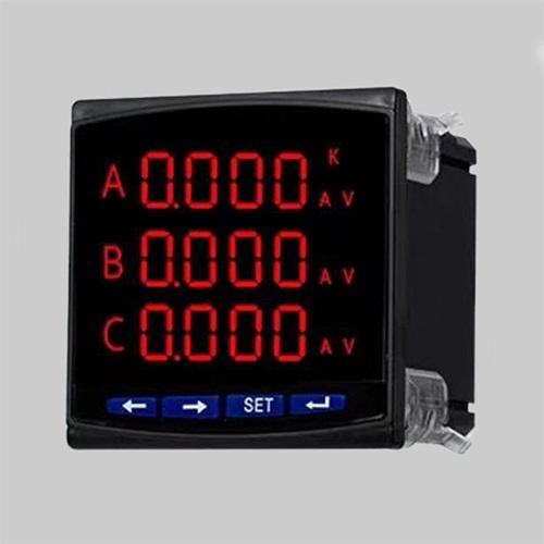 Three phase digital panel meter: true RMS ammeter & voltmeter