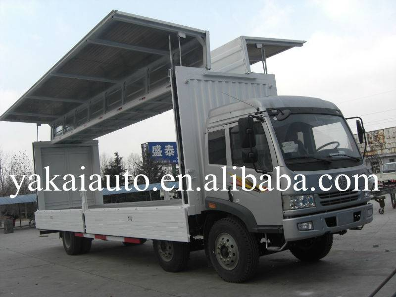 Customized winging open truck body for sale