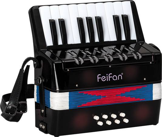 Junior children's 17 key 8 bass musical accordion for sale