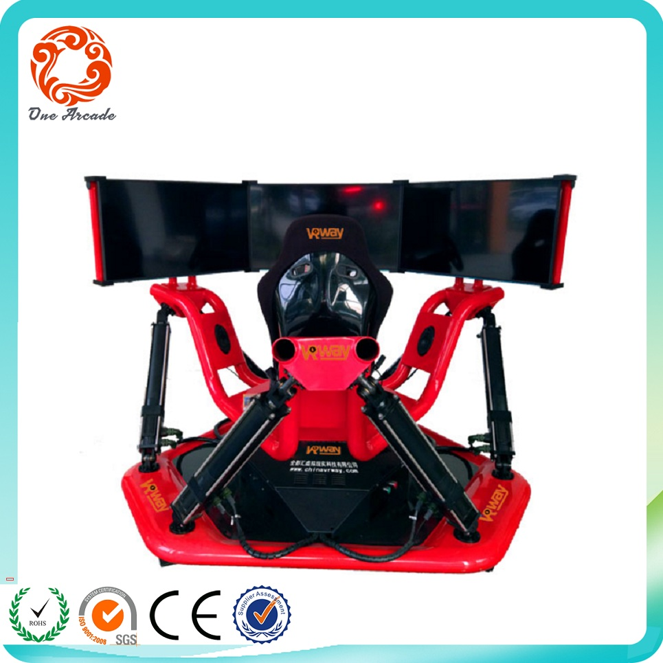 Latest New Arcade Amusement Simulator 3 Screen Virtual Reality Cinema Game Machine