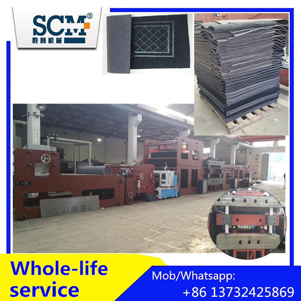Fully automatic carpet/rug/mat stamping and cutting machine