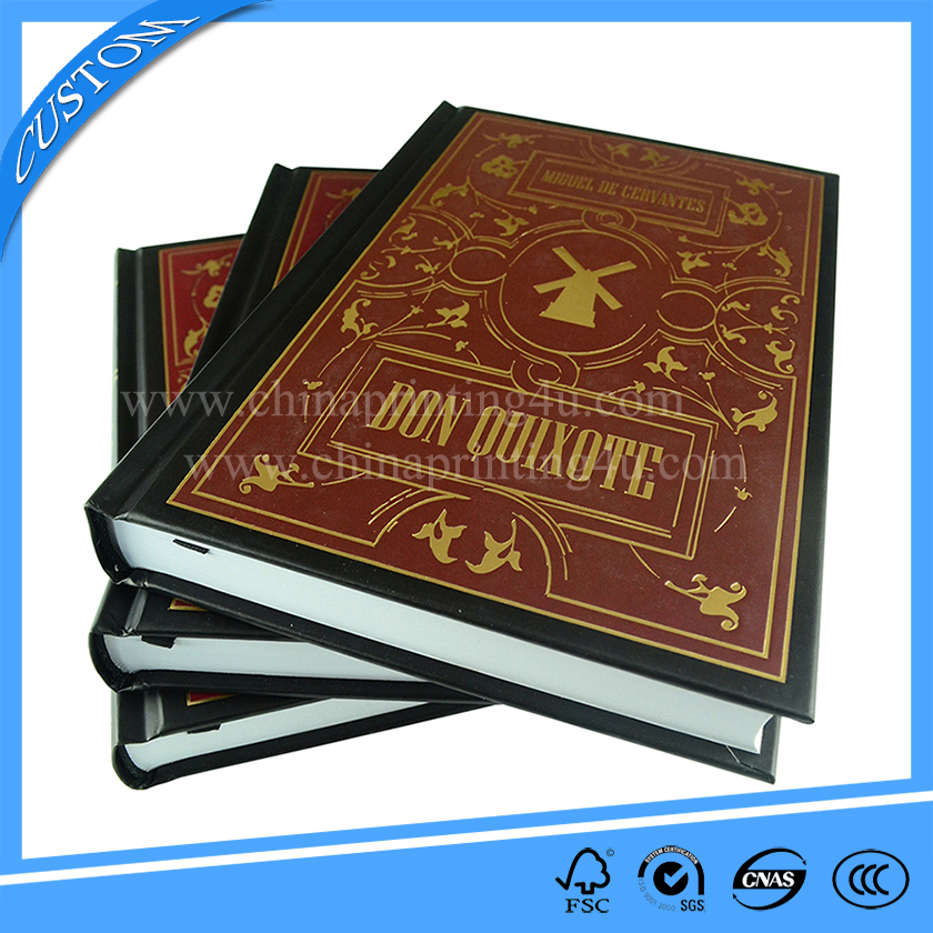 Factory directly novel printing case bound printing books in china