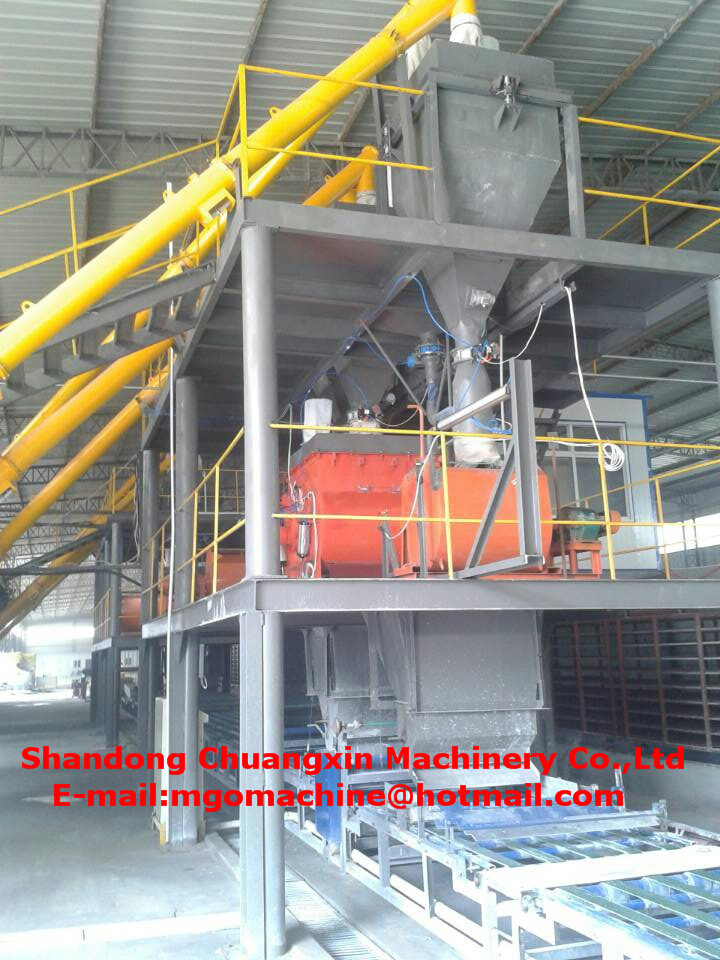 production line for magnesium oxide board making machine for decorating
