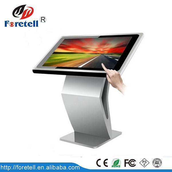 The competitive price 65 inch lcd touch screen advertising machine with standing in shenzhen
