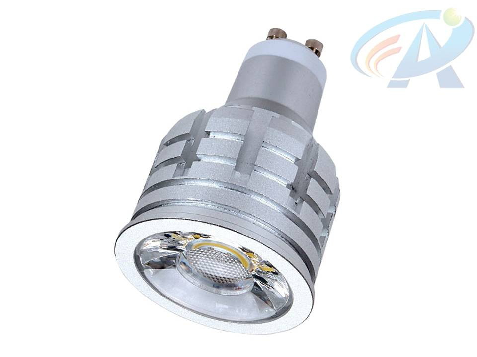 6W GU10 Cold Forging Aluminum Radiator COB LED Spot Light