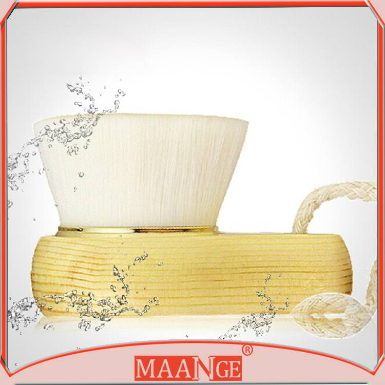 MAANGE Handmade Facial Cleaning Brush With Wooden Handle