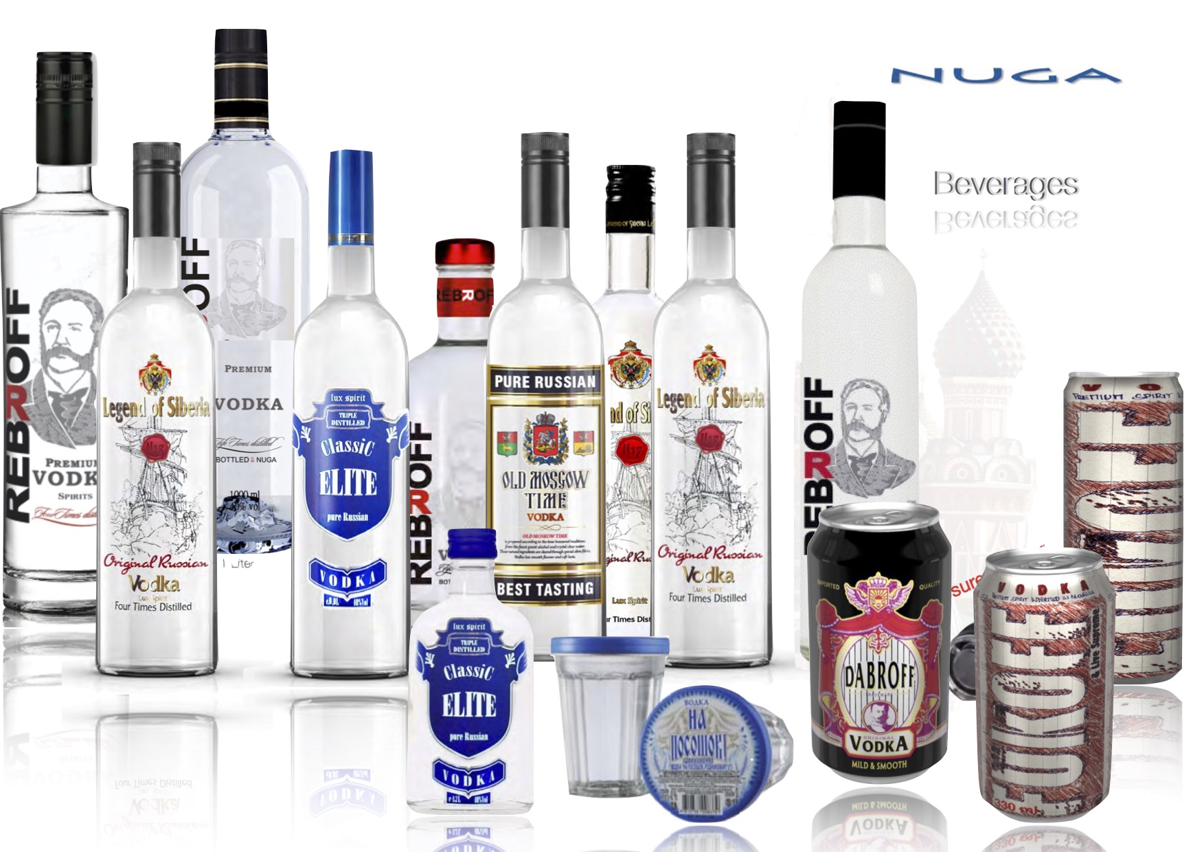 Super Premium Vodka - Russian Super Premium Vodka in cans and soft bags