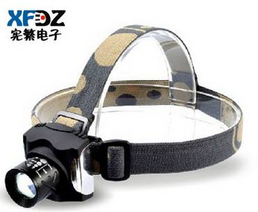 Headlight glare charge outdoor genuine long-range zoom Q5 LED headlamp fishing night fishing fishing