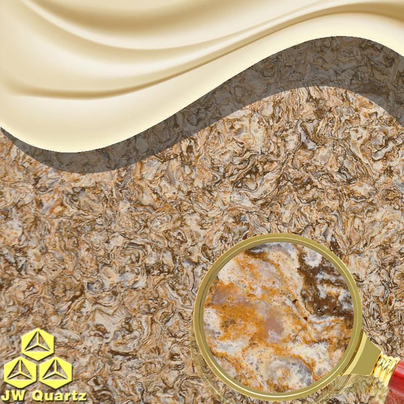JW-6826 Afternoon Tea-Quartz Stone Slab Quite suitable for Kitchen Countertop