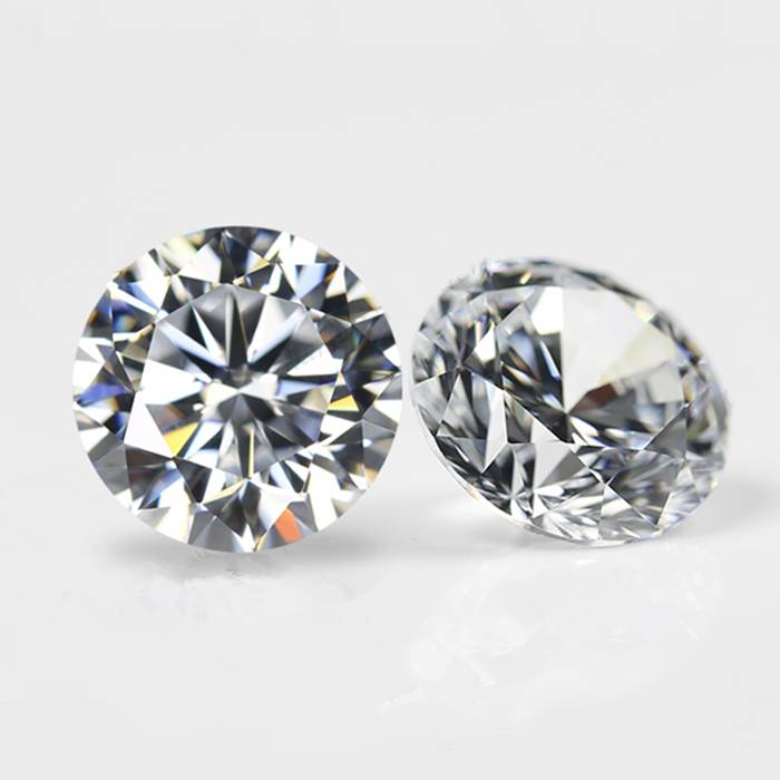 Gemstone Synthetic Cubic Zirconia Factory Price of Hot Sale DIY 8mm Round White Professional Cut CZ