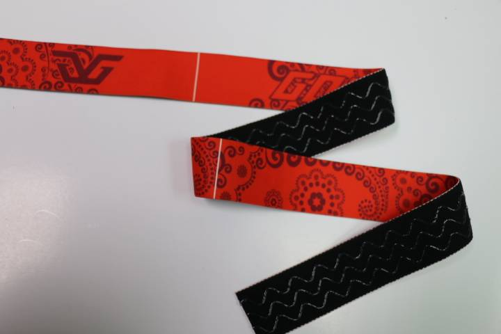 woven elastic jacquard elastic tape with silicone stripe