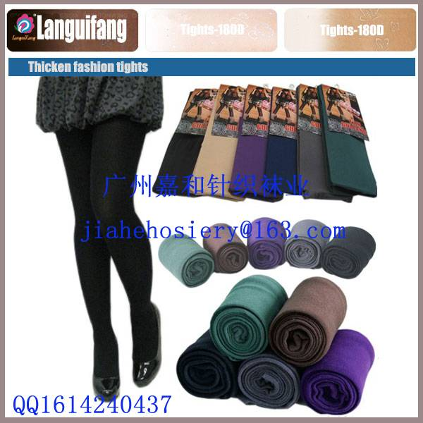 Hot Selling 180D Opaque Colorful Tights with Foot