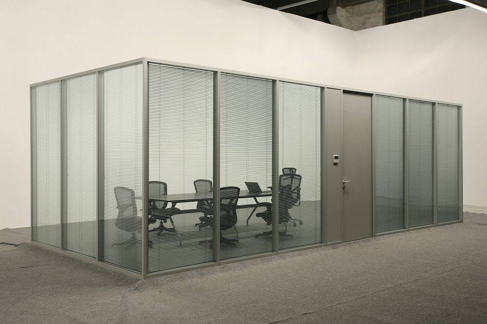 Aluminium frame glass partition modern office cubicles