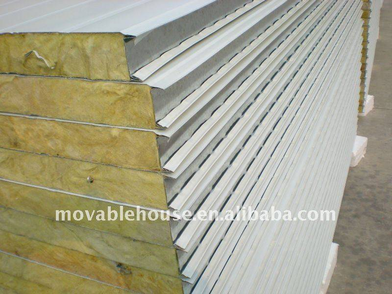 Rock Wool Sandwich Wall Panel for Prefab House