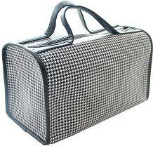 duffle travel houndstooth luggage bag