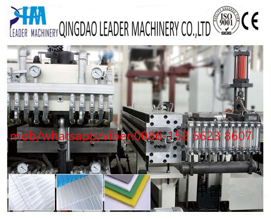 PP PC hollow grid sheet extrusion line
