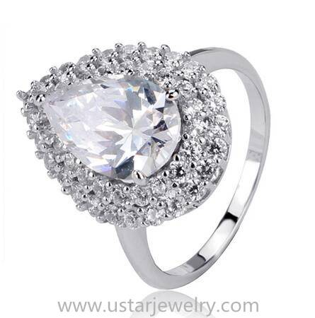 Top Quality vogue rings jewelry with gemstones