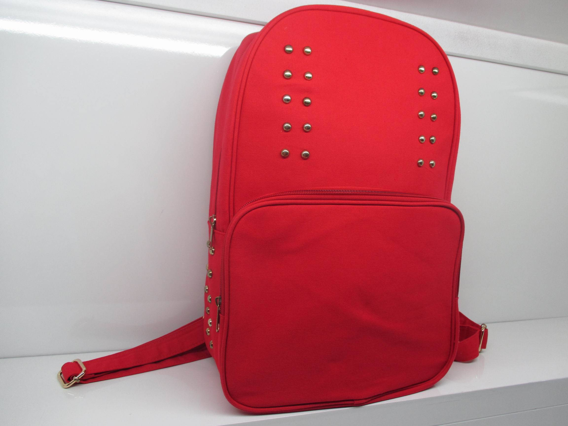 Korean  cotton canvas backpack