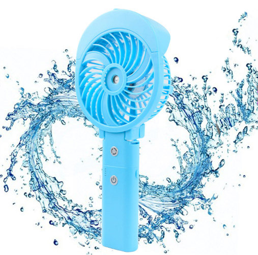 New design rechargeable water air cooling room humidifier fan with power bank