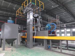 Dingtai roller conveyor through type aluminium plate shot blasting machine