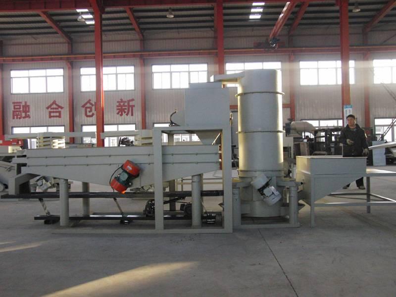 Almond dehulling machine