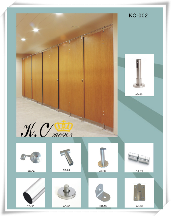 304 Stainless Steel Toilet Partitions System Accessory