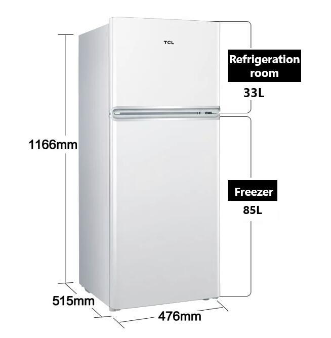 TCL BCD-118KA9 Small refrigerator Household refrigerator energy-saving small refrigerator double-doo