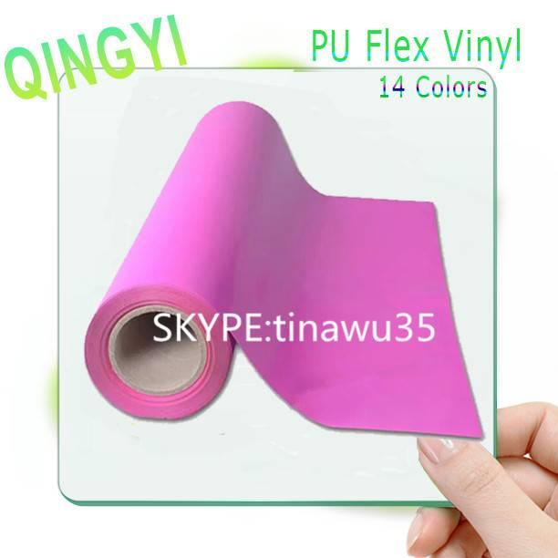 High-elastic PU fluorescence heat transfer vinyl for basketball uniform